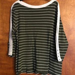 Dress Barn Striped Shirt Size 3X